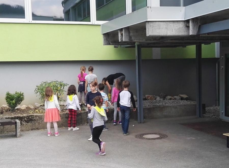 Urejanje okolice šole